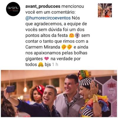 Comentario da nossa cliente Karine Alvesz da Avant Produções sobre as atrações de Humor e Circo para o evento de inauguração Spaces Cinelândia, realizado no Teatro Riachuelo Rio no dia 28/06/2018.