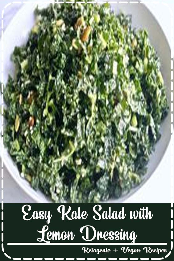 full of incredible lemon flavor mixed with the amazing superfood KALE Easy Kale Salad with Lemon Dressing