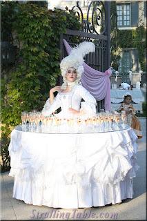 strolling Tables Marie Antoinette
