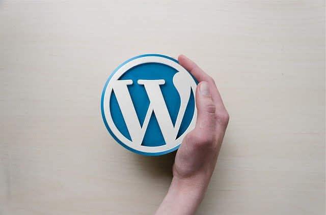ブログで有名なWordPress のロゴの写真