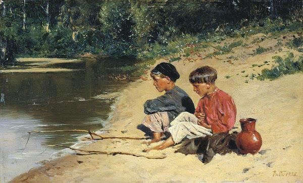 Маковский Владимир Егорович - Рыбачки. 1886