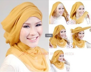 Tutorial hijab turban kreasi baru