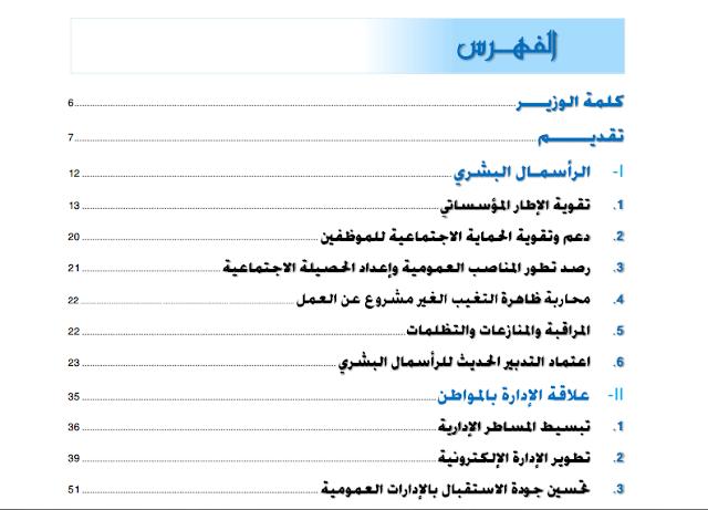 منجزات وزارة الوظيفة العمومية وتحديث الإدارة بصيغة PDF