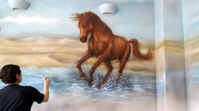 Malowanie konia w galopie, konie w galopie, obrazy olejne, konie obrazy na zamówienie horses