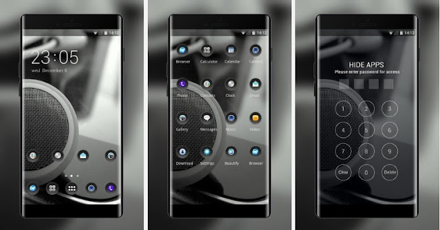 Kumpulan Tema OPPO A83 & A83 Plus - Silver Black