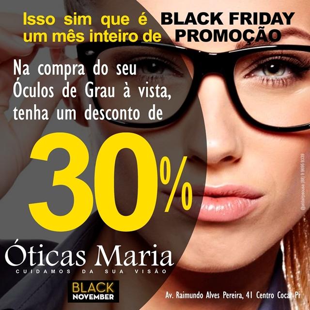 16bdb5a00b88e BLOG DO COVEIRO  Black Friday é nas Óticas Maria durante todo o mês ...