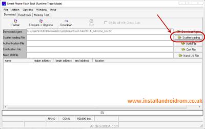 Scatter File Stock ROM Install