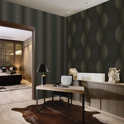 Vẻ đẹp sang trọng và bí ẩn được tạo ra nhờ giấy dán tường phòng ngủ màu đen