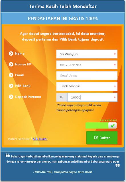 Cara Mendaftar di BebasBayar.com