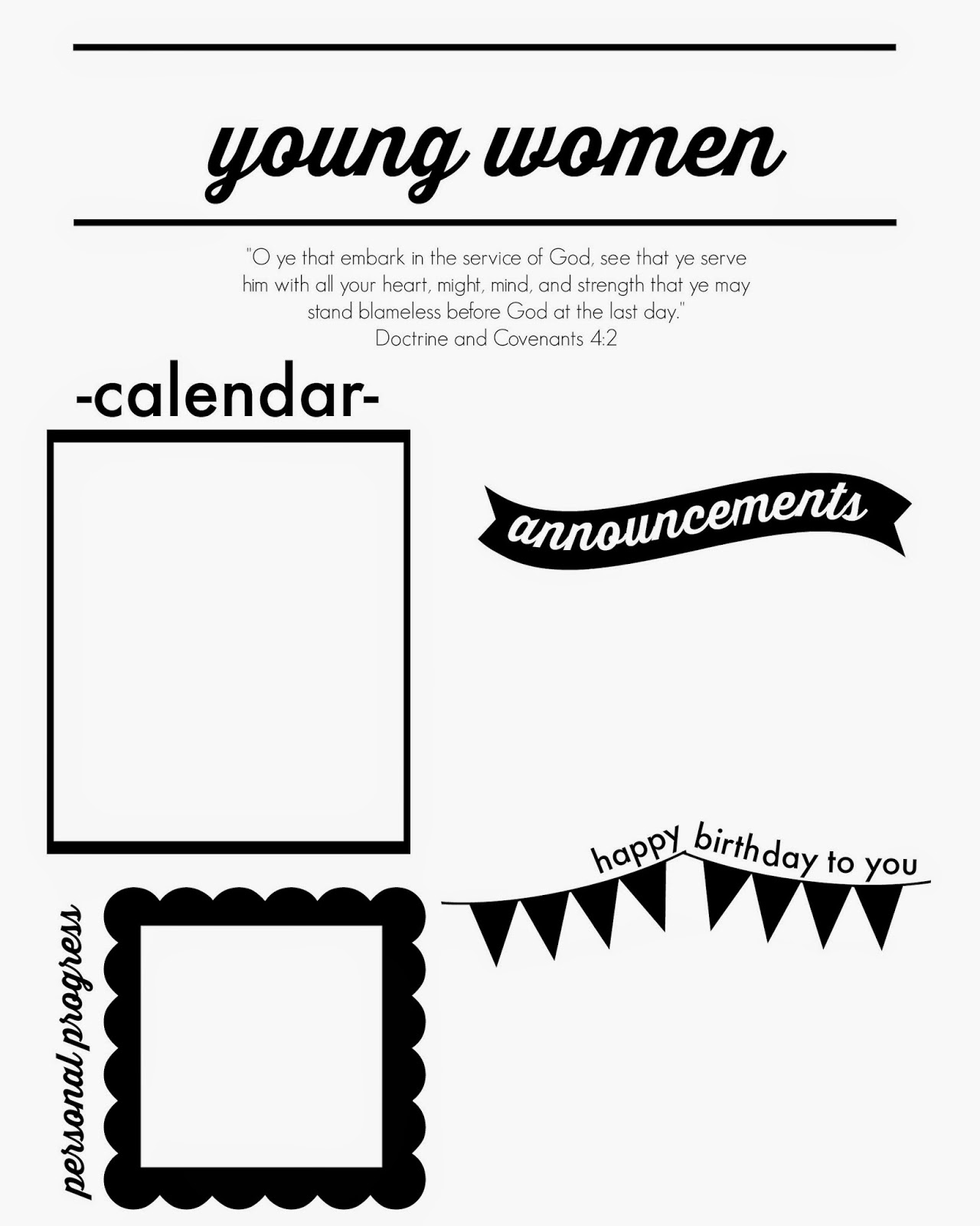 Larissa Another Day: Young Women's Monthly Newsletter Template