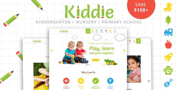 Kiddie Kindergarten WordPress Theme Free Download Nulled