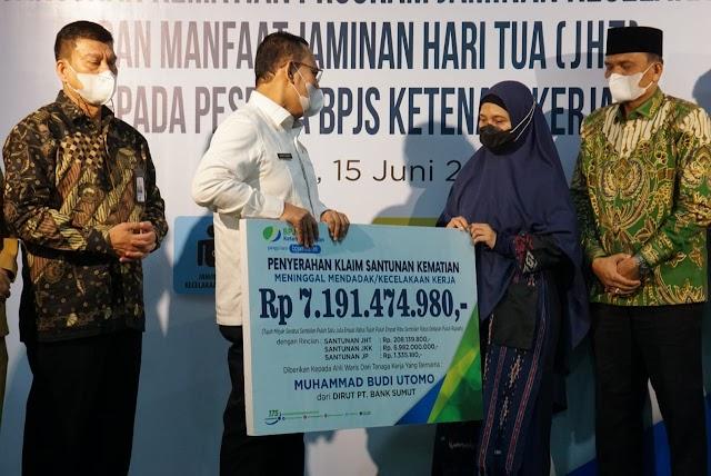 Ahli Waris Mantan Dirut Bank Sumut dapat Santunan Rp7,1 Miliar dari BP Jamsostek