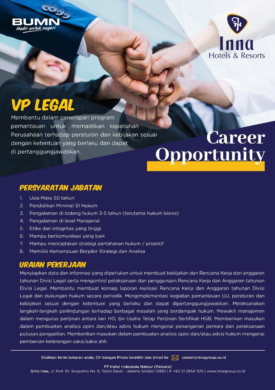 Lowongan Kerja Bumn Pt Hotel Indonesia Natour Persero Bulan Februari 2020 Rekrutmen Lowongan Kerja Bulan Februari 2021