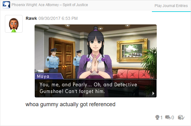 Phoenix Wright Ace Attorney Spirit of Justice Detective Gumshoe Maya Fey