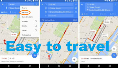 how to set multiple stops in google maps