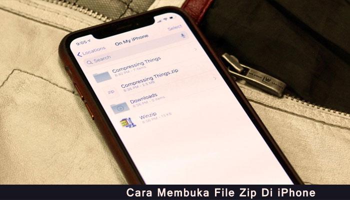 Cara Membuka File Zip Di iPhone