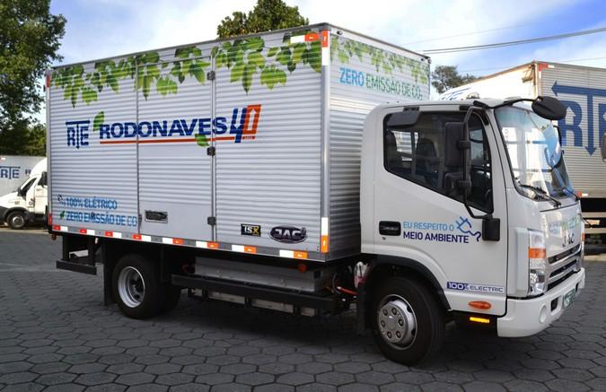 RTE Rodonaves adquire frota de caminhões 100% elétricos