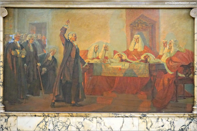 James Otis por Robert Reid en el Nurses Hall del Massachusetts State House