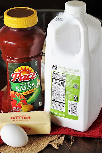 Spicy Salsa Muffins Ingredients Image