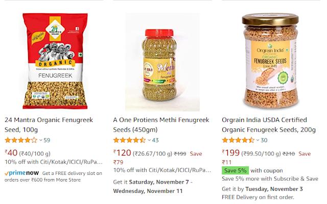 methi seeds price on amazon , amazon, methi seeds business