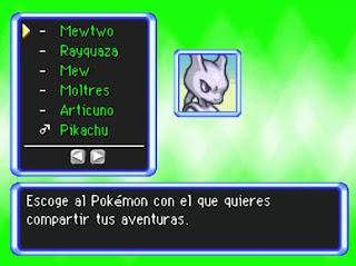 Pokemon Mundo Misterioso Legendary para NDS Pokemon Inicial Test Personalidad