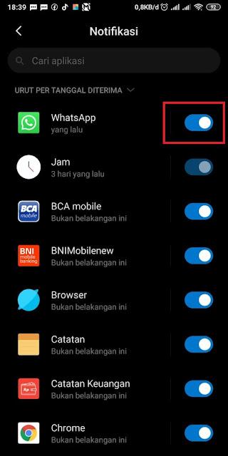 Cara Mematikan Notifikasi Whatsapp 4