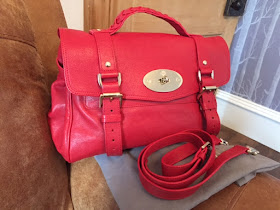Mulberry Alexa in Red Polished Buffalo