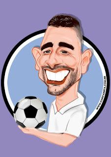 caricatura futebol