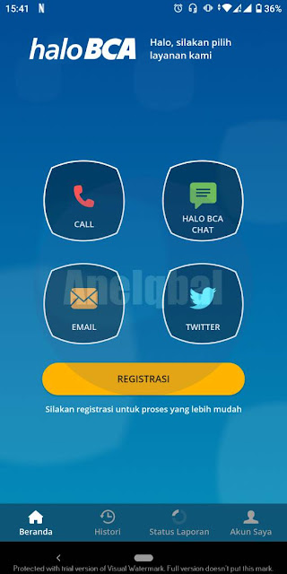 Cara Menghubungi Halo BCA lewat aplikasi mobile