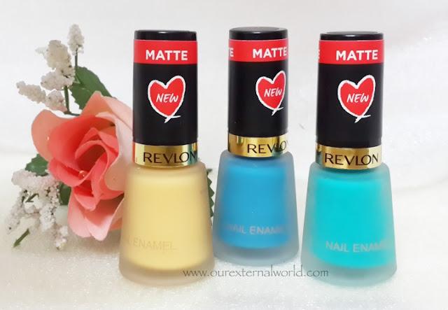 Nail Art Using Revlon Matte Nail Polishes and Ejiubas Nail Vinyls
