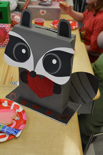 Raccoon Valentine Box by Handcrafted Occasions