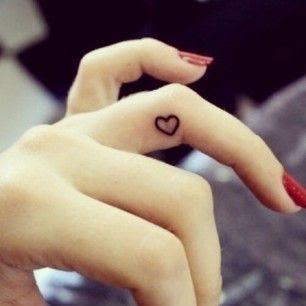 20 Cute, Tiny Finger Tattoos for Girls Ideas