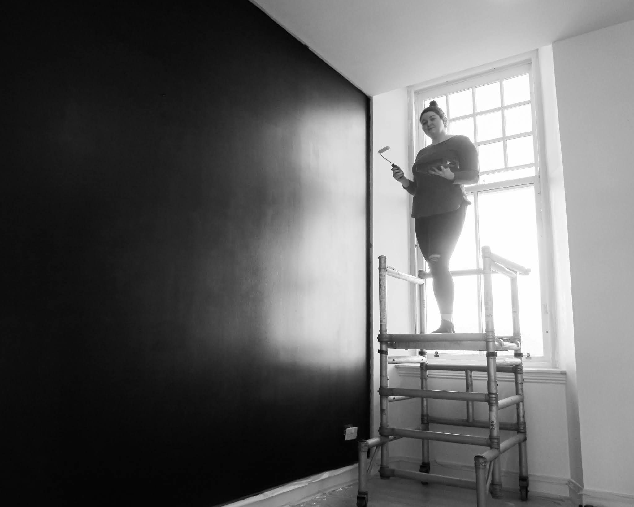 painting progress renovation liquid grain