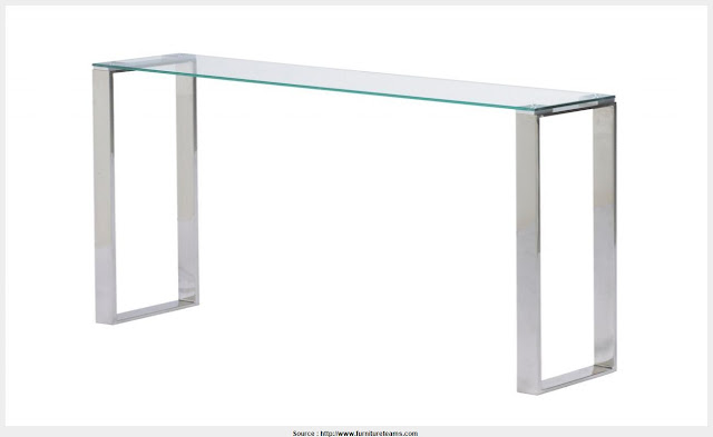 Cool Narrow Glass Console Table Photograph