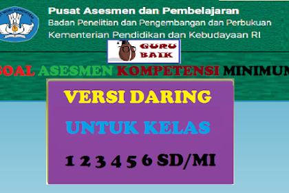 Kumpulan Soal AKM Daring Untuk Kelas 1 2 3 4 5 6 SD