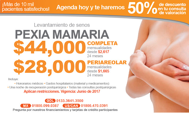 levantamiento de mama senos bubies levantadas mastopexia precio costo guadalajara
