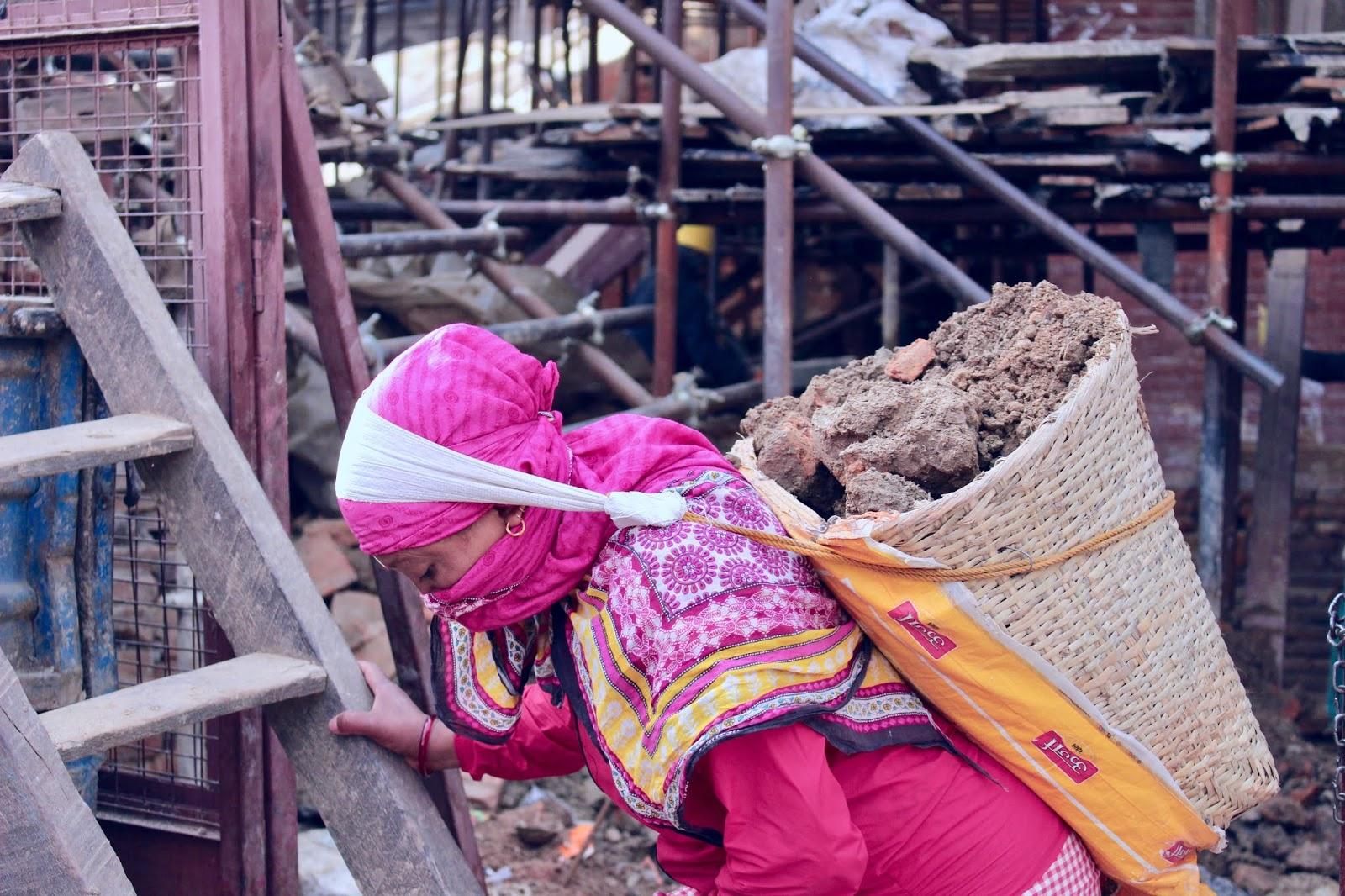 A Nepali woman at work