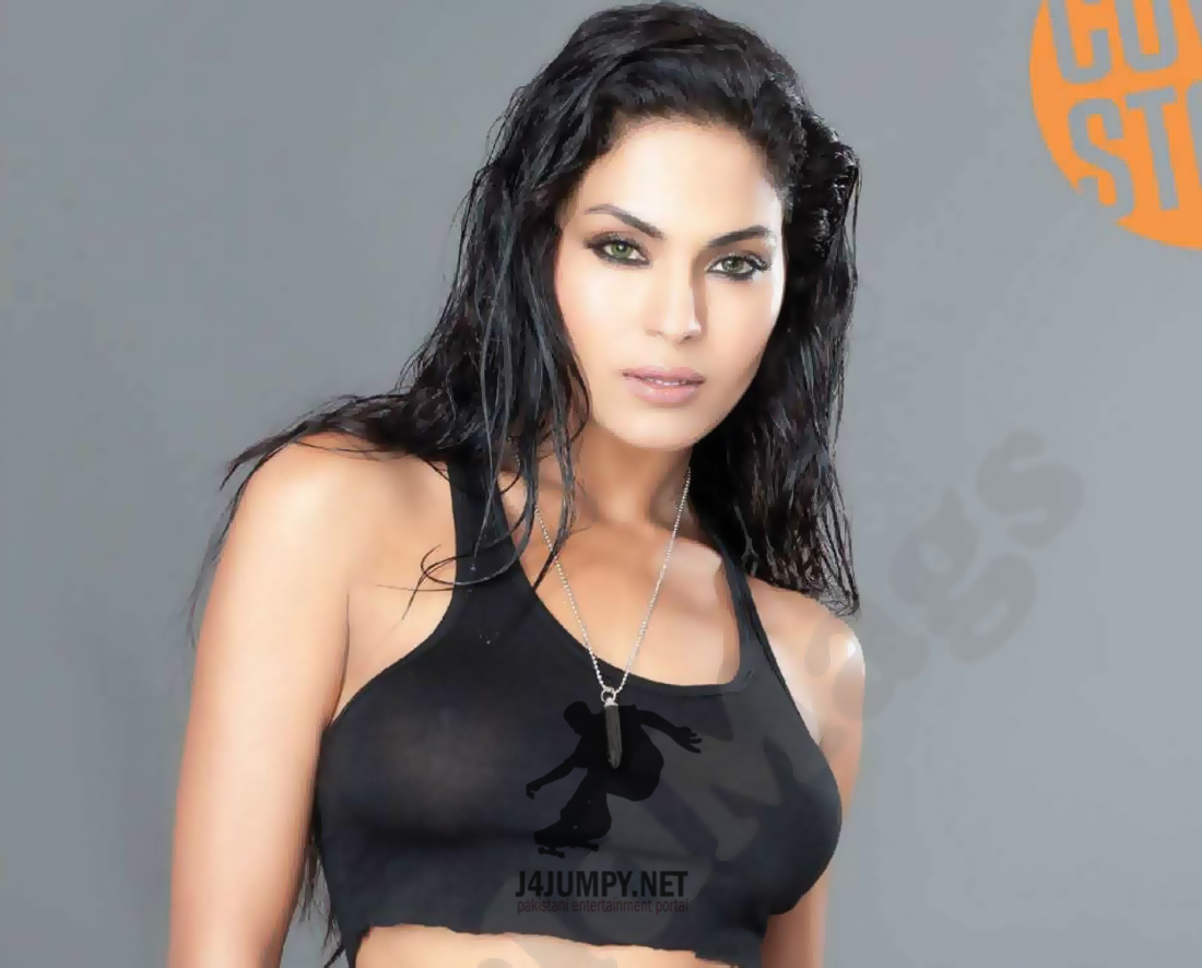 Latest Movie Masala Veena Malik Semi Nude Photos In Fhm -4609