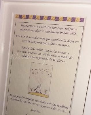Marco con instrucciones para árbol de huellas
