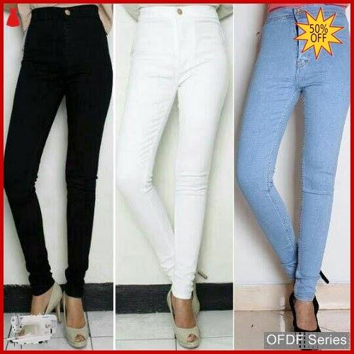 OFDF062 Celana High Waist Jeans Modis BMGShop