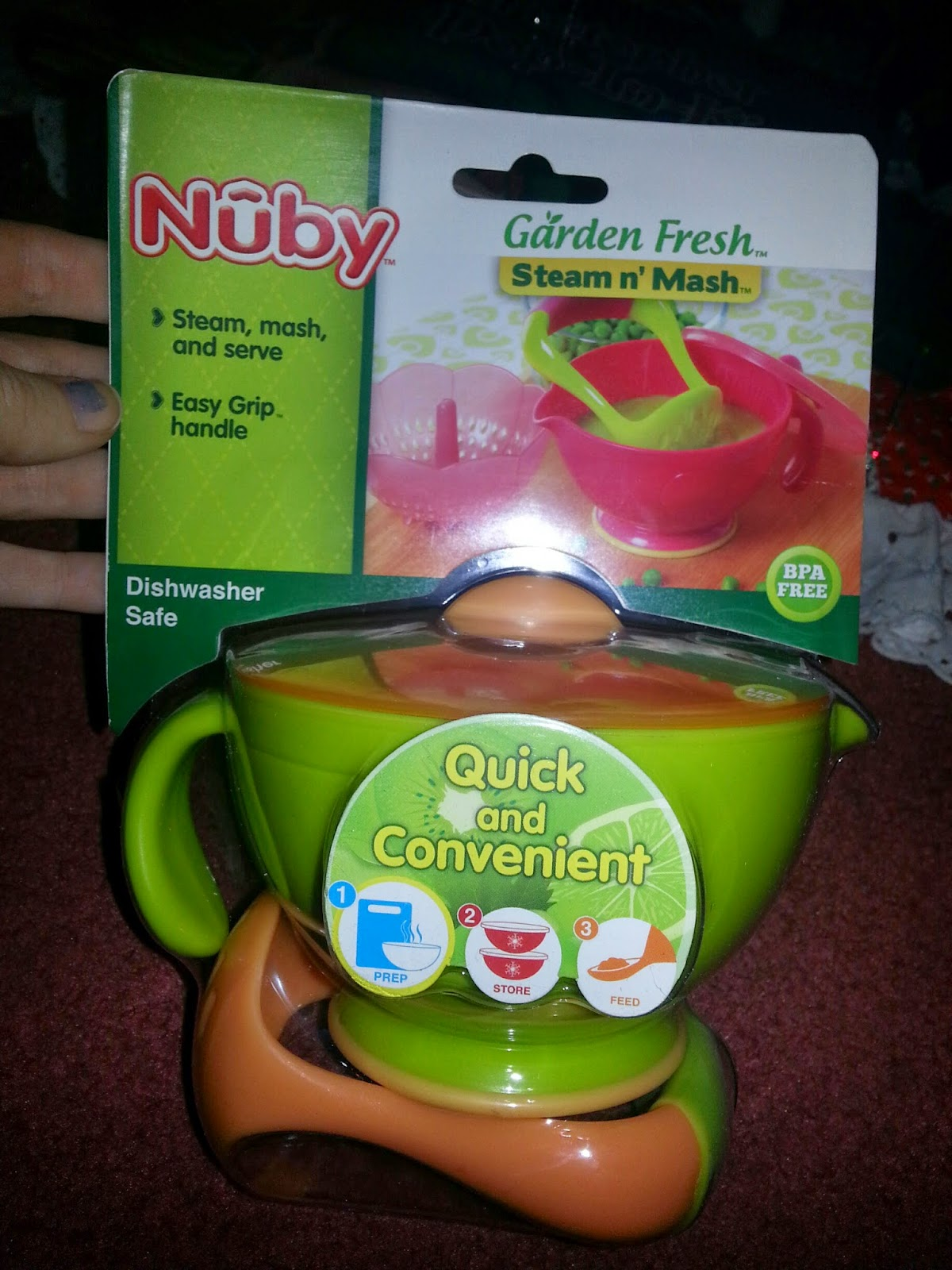 Momma4life Nuby Garden Fresh Steam N Mash Review Giveaway