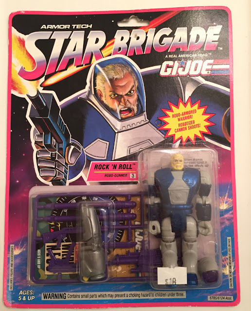 1993 Star Brigade Rock and Roll, MOC, Armor Tech, Carded
