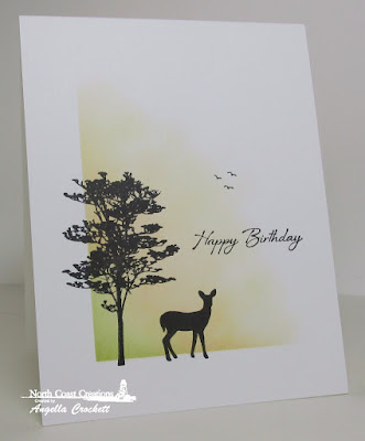 North Coast Creations Deer Silhouette Greetings, Card Designer Angie Crockett
