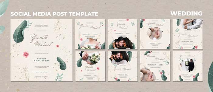 Wedding Flat Lay With Envelope Card PSD Mockup