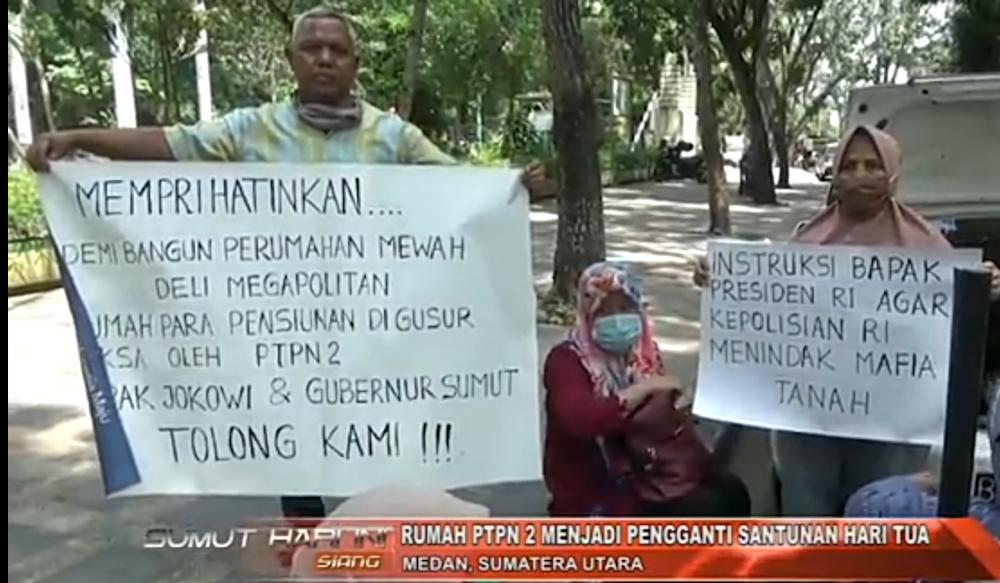 Terancam Diusir Pensiunan PTPN 2  Mengadu Ke Gubernur Sumatera Utara