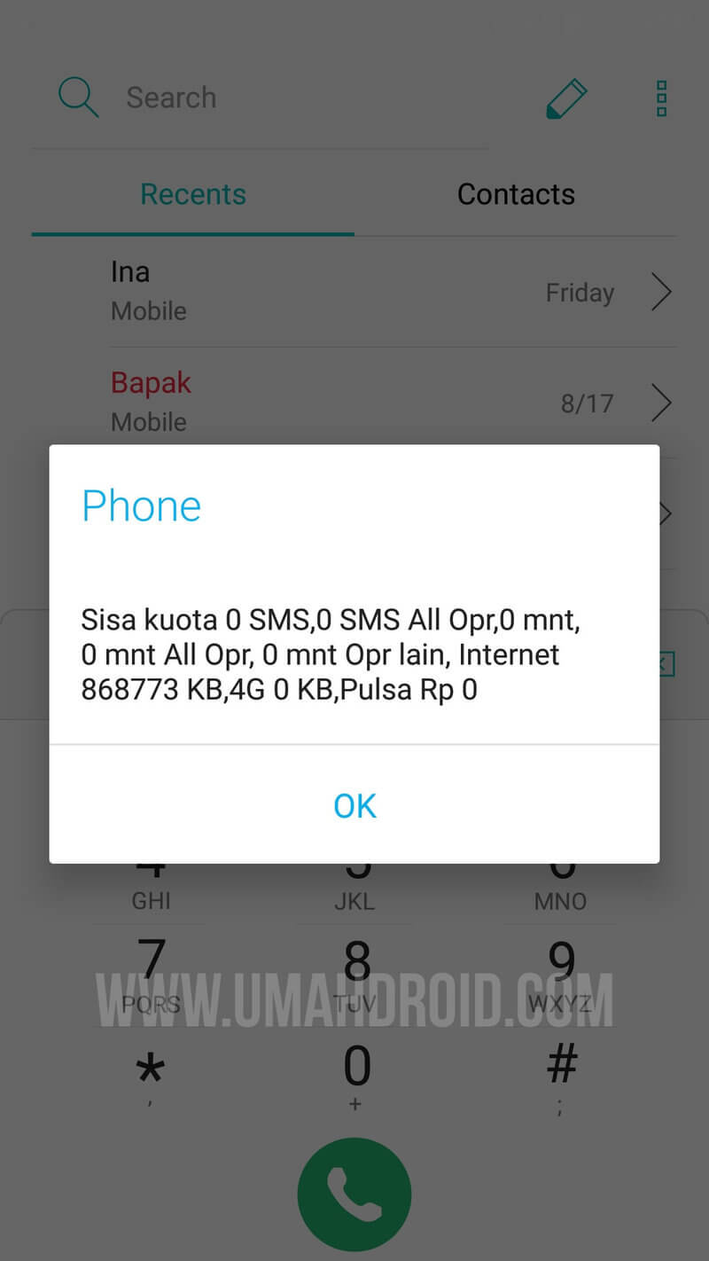 Cara Mengecek Sisa Kuota Only 4u Paket Internet Indosat Im3 Umahdroid