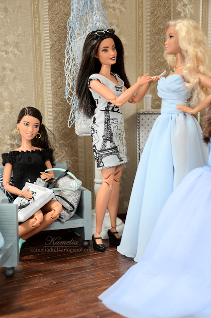 Barbie in the dressing room