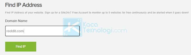 cara menemukan alamat IP Address situs web