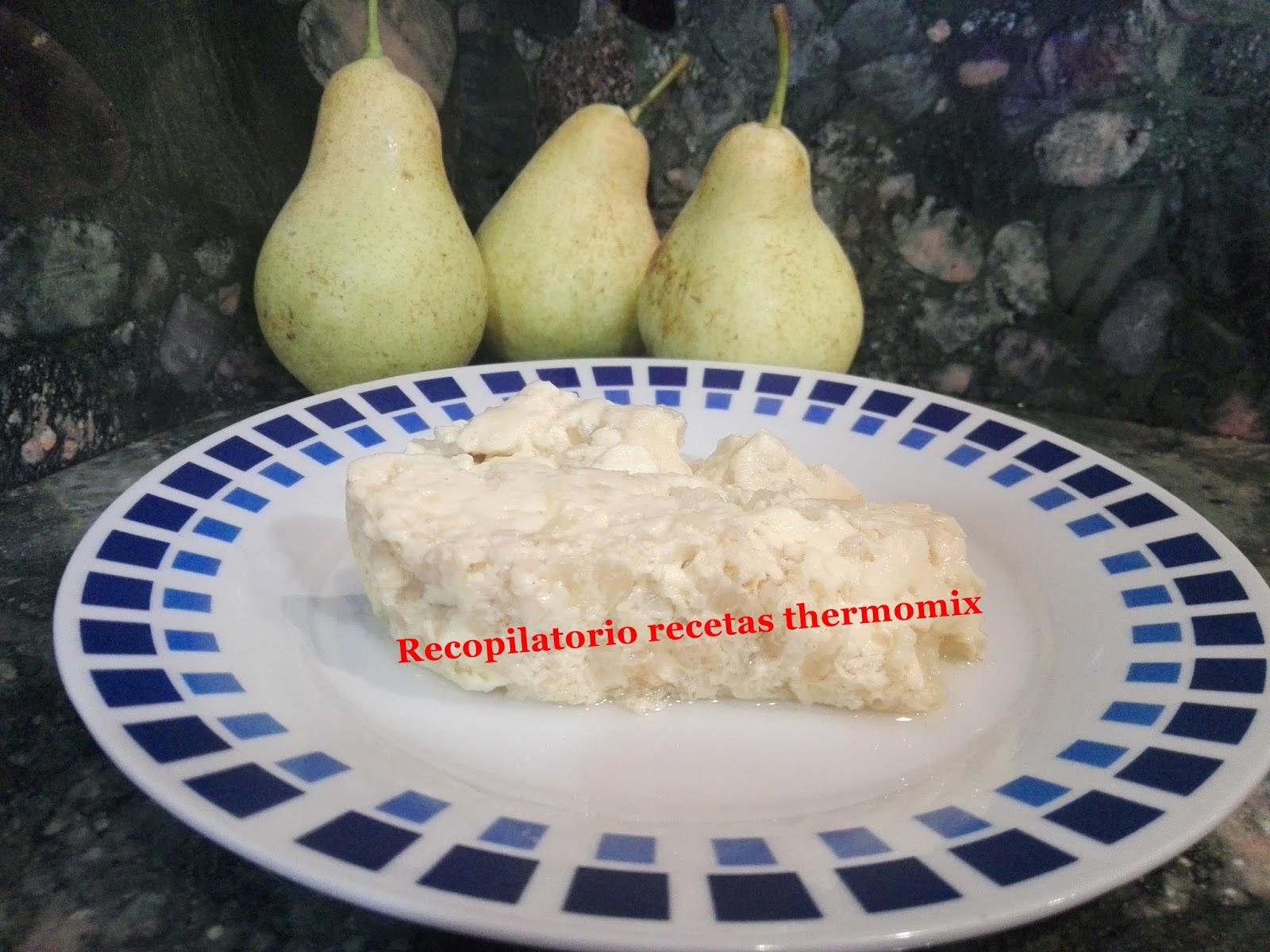 Recopilatorio De Recetas Thermomix Flan De Peras Al Varoma