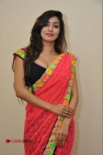 Actress Vaibhavi Joshi Pictures in Red Saree at Guntur Talkies 2 Movie Opening  0042.JPG